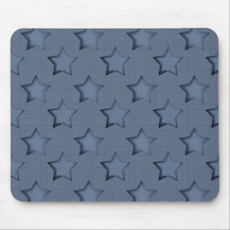 Blue stars mouse pad