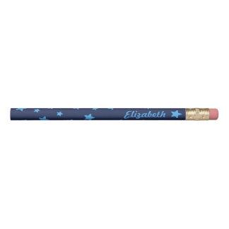 Blue Stars Name Pencil