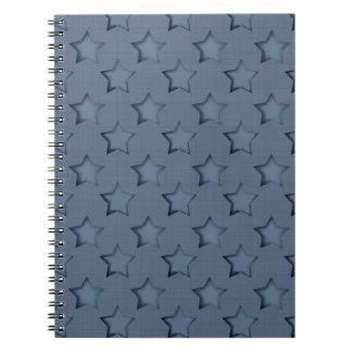 Blue stars notebooks