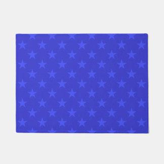 Blue stars pattern doormat