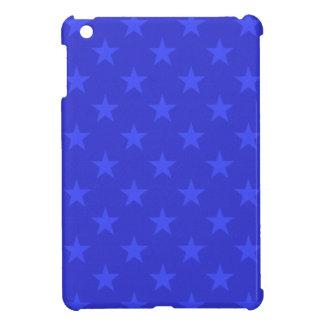 Blue stars pattern iPad mini case