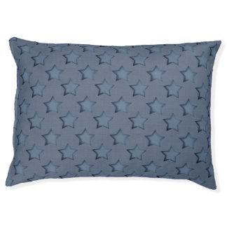 Blue stars pet bed