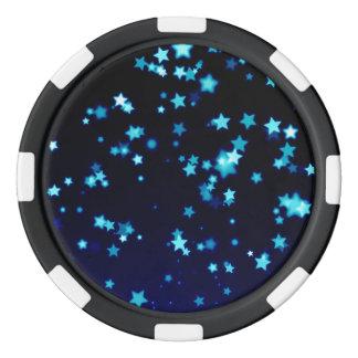 Blue Stars Poker Chips