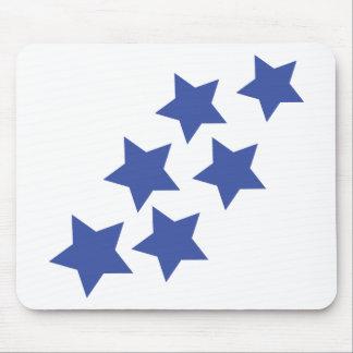 blue stars rain mouse pad