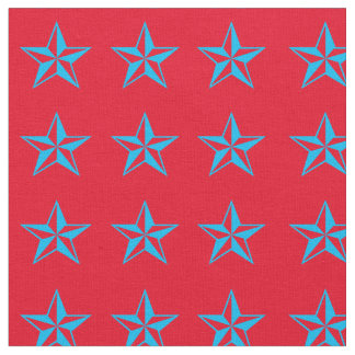 Blue Stars Rodeo Western Fabric