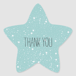 Blue Stars thank you Star Sticker