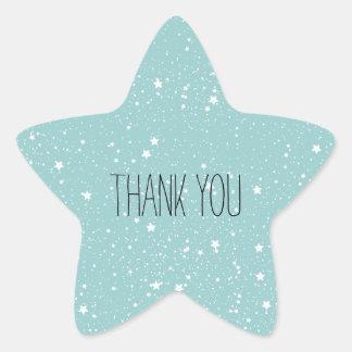 Blue Stars thank you Star Sticker