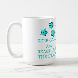 Blue Stars with Saying Coffee Mug