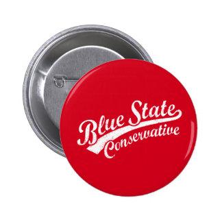 Blue State Conservative 2 Inch Round Button