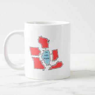 Blue State Illinois Large Coffee Mug
