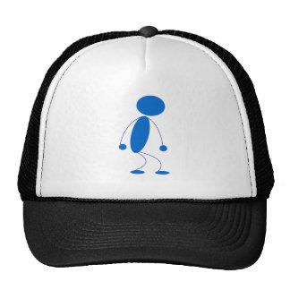 Blue Stick Figure Mad Mesh Hats
