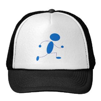 Blue Stick Figure Running Hats