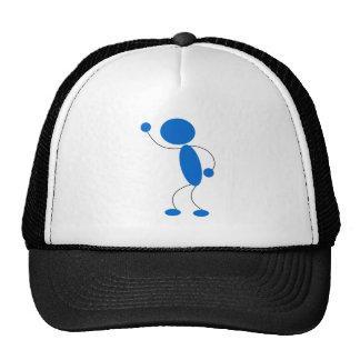 Blue Stick Figure Yelling Mesh Hats