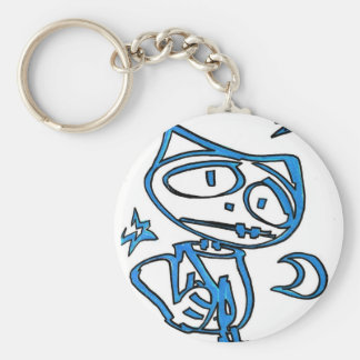 Blue Stitchlip on Highway (Cat Super Hero) Keychain