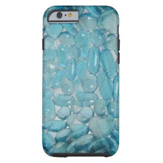 Blue Stone Gems Pattern Tough iPhone 6 Case