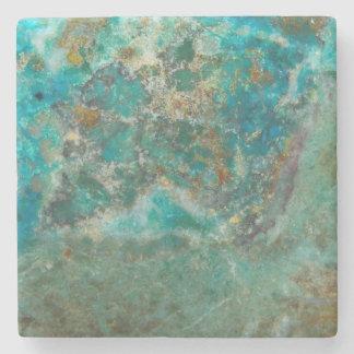 Blue Stone Image Stone Beverage Coaster