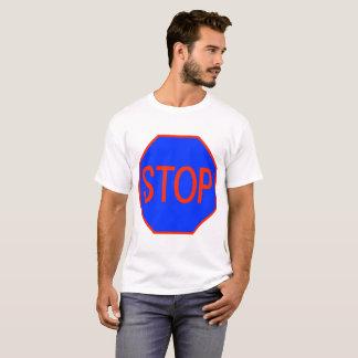 Blue Stop Sign T-Shirt