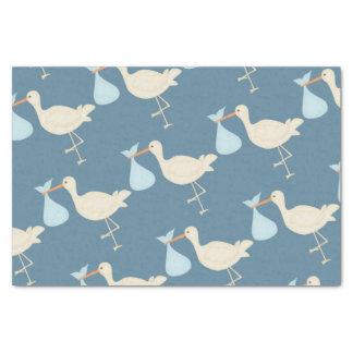 Blue Stork Tissue Paper