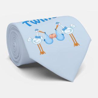 Blue Storks Twin Boys Tie