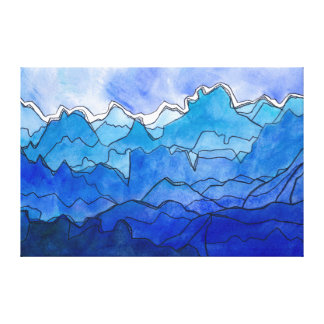 Blue Strata Canvas Print