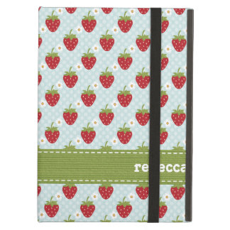 Blue Strawberry iPad Air Cases