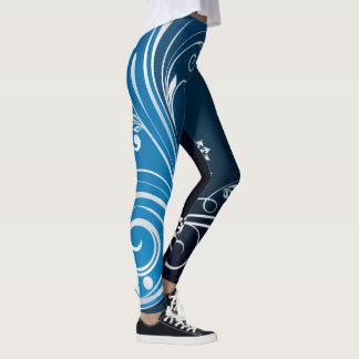 Blue Streak Abstract Leggings