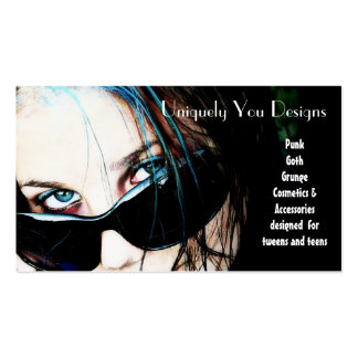 Blue Streaks and Sunglasses Business Card