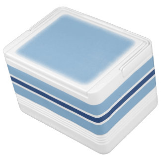 Blue Stripe Small Igloo Drink Cooler