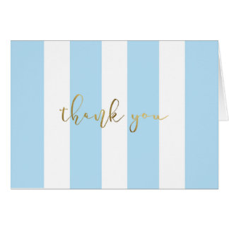 Blue Stripe With Script Card