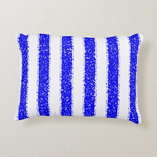 Blue Striped Accent Pillow
