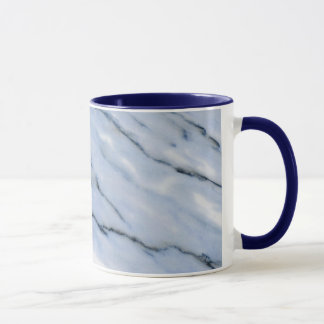 Blue Striped Marble Mug