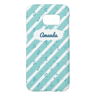 Blue Striped Music Notes SG7 Case