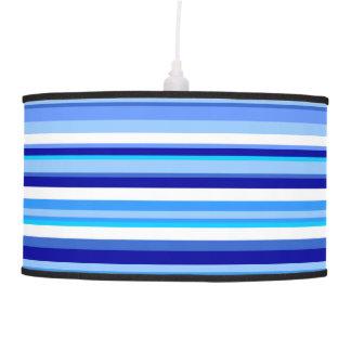 Blue Striped Pendant Lamp