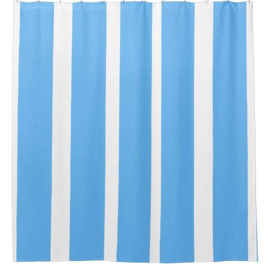 Blue Striped Shower Curtain