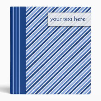 Blue Stripes 1 Inch Binder