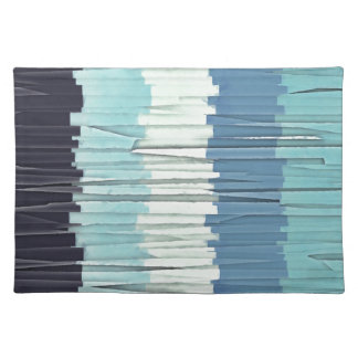 Blue Stripes Abstract Placemat
