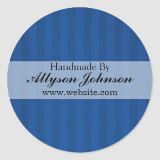 Blue Stripes   Background Handmade By Stickers