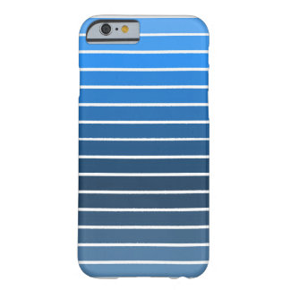 Blue stripes barely there iPhone 6 case