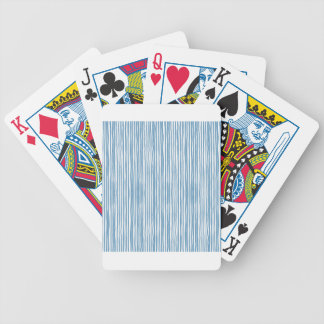 Blue stripes bicycle playing cards