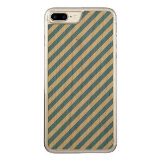 Blue Stripes Carved iPhone 8 Plus/7 Plus Case
