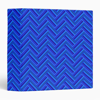 Blue stripes double weave pattern vinyl binder