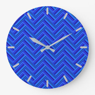 Blue stripes double weave pattern wallclocks