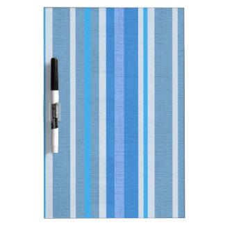 Blue Stripes Dry Erase Board