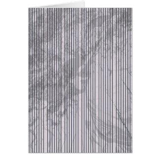 Blue stripes on grunge background greeting card