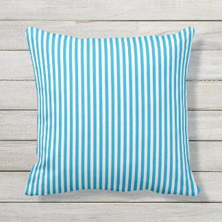 Blue Stripes Outdoor Pillow