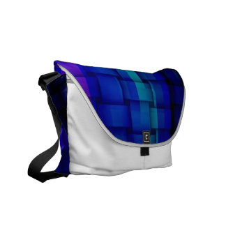 Blue stripes painting art graphic design commuter bag