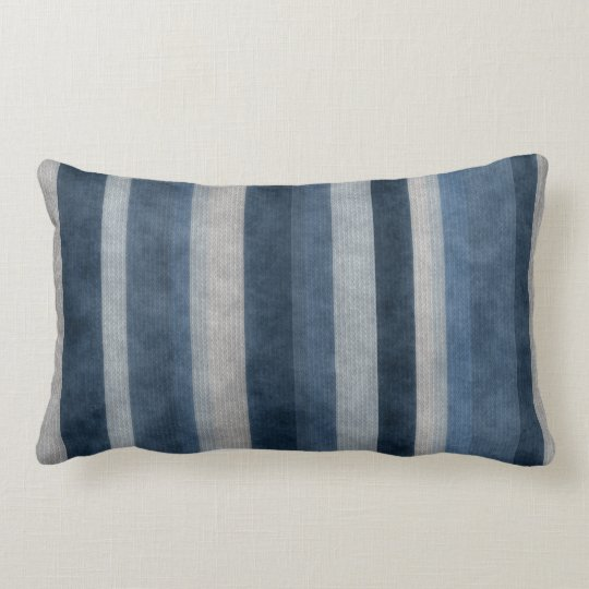 Blue Stripes Pattern American MoJo Pillows