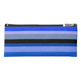 Blue Stripes Pencil Case