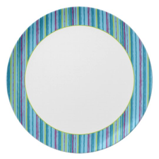 Blue stripes plate
