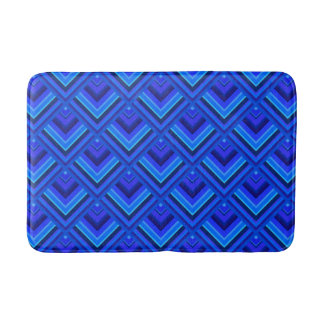 Blue stripes scale pattern bath mat
